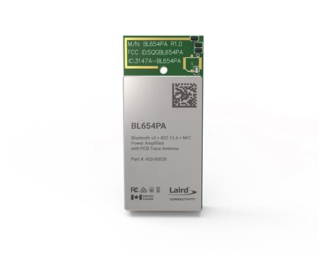Laird Connectivity's nRF52840 SoC-powered BL654 Series modules