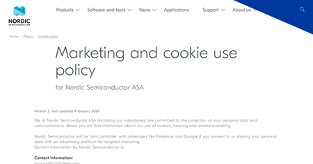 Marketing and cookie us epolicy
