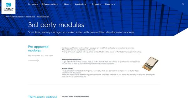 3rd party modules - nordicsemi com