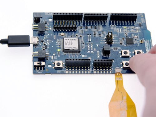 nRF52 DK: Picture-5-Touch-buttons